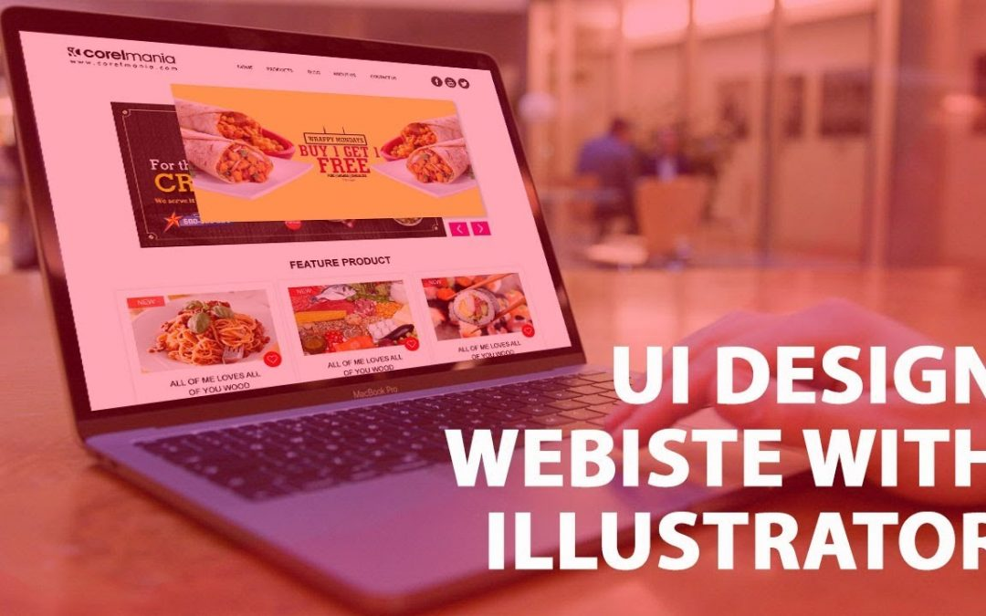 Learn how to design website in Adobe Illustrator: UI & Web Design template with Great UI Design