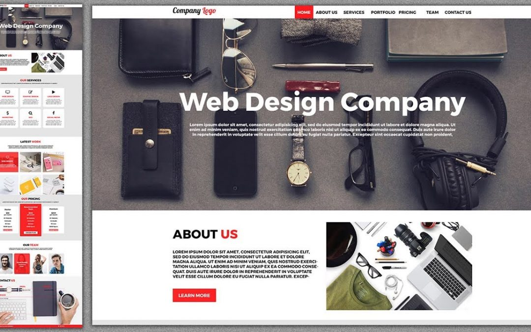 Photo Web Design Tutorial 2018 How To Responsive Website Template In Cc